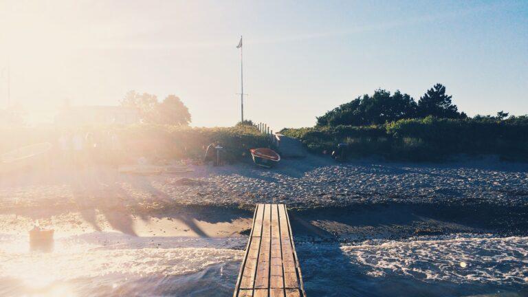 Smuk strand i Østjylland
